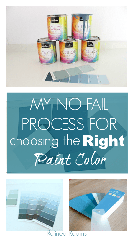 My process for choosing the right paint color the first time @ refinedroomsllc.com