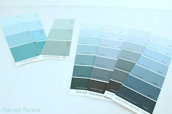 When choosing paint colors, start by selecting about 15 options @ refinedroomsllc.com