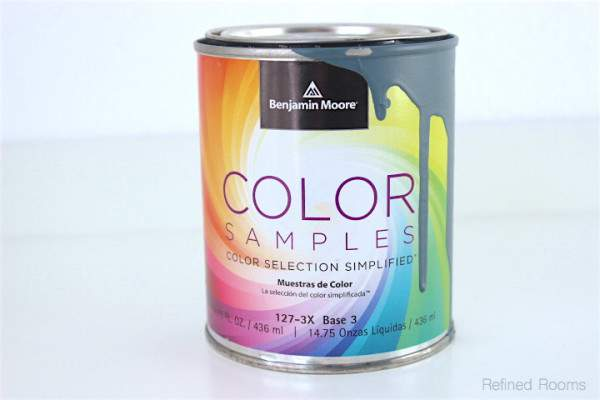 Use color samples to create sample boards as part of the paint color selection process @ refinedroomsllc.com