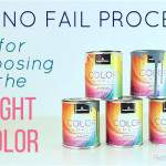 A PROCESS FOR CHOOSING THE RIGHT PAINT COLOR