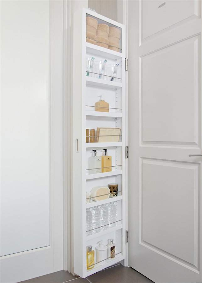 Check out this innovative storage and organizing product, the Cabidor Door Storage Cabinet via Refined Rooms Blog