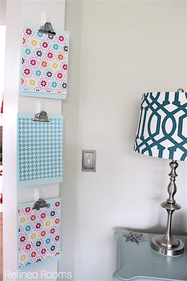 Maximize vertical storage space in the home office with clipboards | Refined Rooms