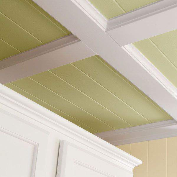 Textured ceiling fix refined rooms How to disguise wood paneling