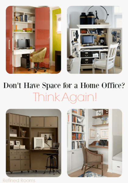 Small Space Home Office Solutions-Nook at refinedroomsllc.com
