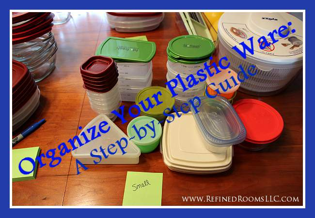 Organize Your Plasticware Cover