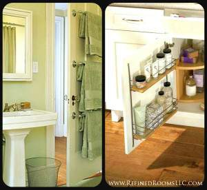 bathroom door organization