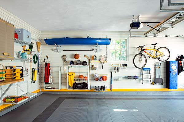 garage organization tips: Avoid storing items on the floor