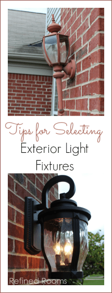 Tips for selecting exterior light fixtures @ refinedroomsllc.com