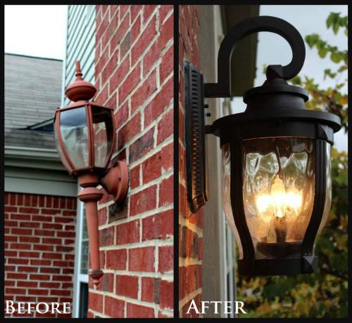 Tips for updating exterior light fixtures @ refinedroomsllc.com