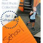 "print photo with index card. Text ""How to Organize Your Print Photo Collection: Part 2 Safeguarding""."