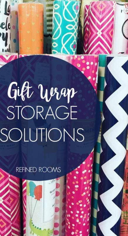 Got gift wrap supplies? You know how quickly they can evolve into a mangled mess. Why not tame your collection with one of these gift wrap organizing products?