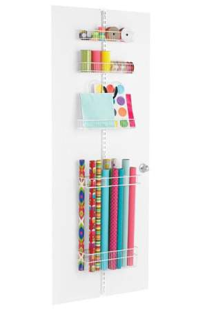 Elfa Gift Wrap Door and Wall Rack.