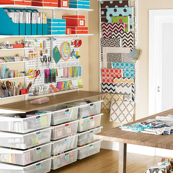Elfa craft room storage solution @refinedroomsllc.com