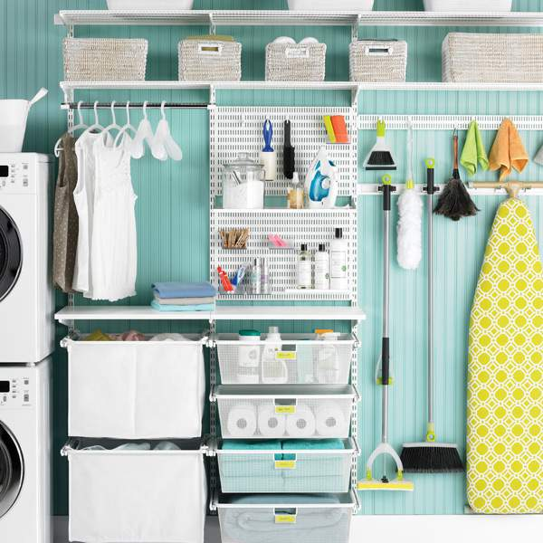 Elfa Laundry Room Storage System Refinedroomsllc