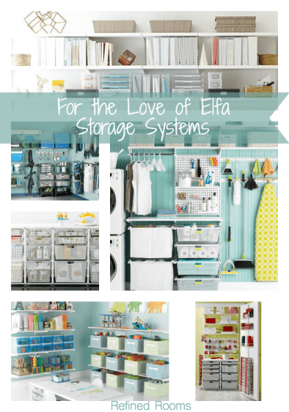 THe Container Store's Elfa storage systems is a favorite of this professional organizer @ refinedroomsllc.com