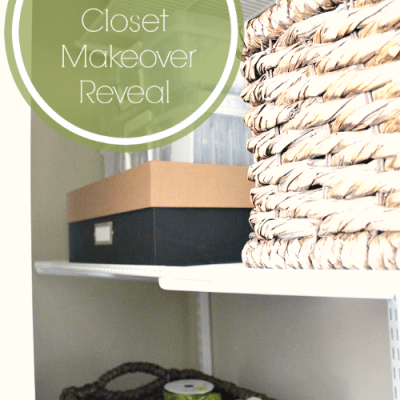 Organizing the Organizer: Guest Room Closet Makeover Reveal