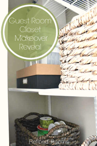 Guest Room Closet Makeover Reveal with Elfa @ RefinedRoomsLLC.com