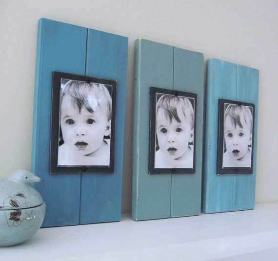 Come see the unique photo display ideas I'm sharing over on the blog, including these gorgeous handmade plank photo frames!
