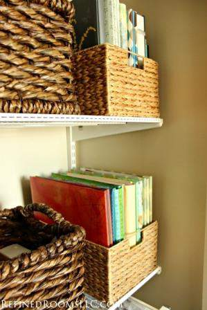 using baskets to organize groups of items @refinedroomsllc.com