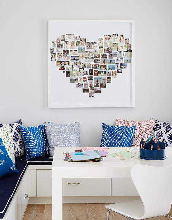 Come see the unique photo display ideas I'm sharing over on the blog, including this sweet photo heart collage