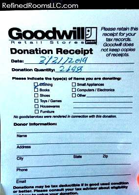organized charitable donations tax records 4