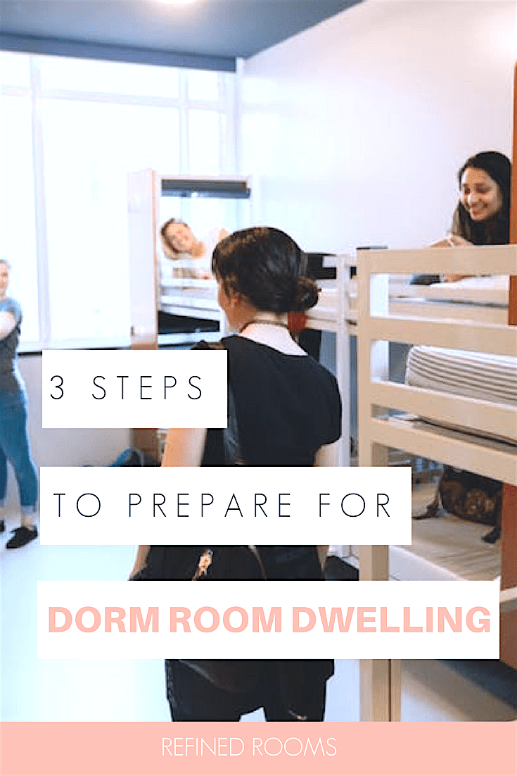 heading off to college soon? Follow this 3-step process to prepare yourself for dorm room living