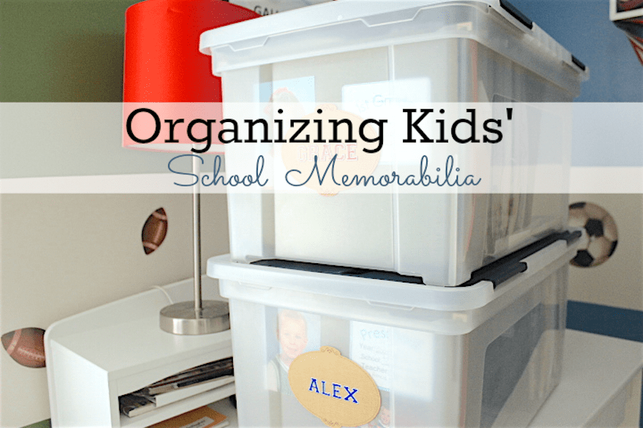 Click here to learn about a simple system for Organizing School Memorabilia