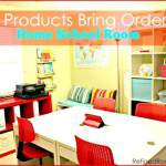 IKEA Products Bring Order to a Home School Room