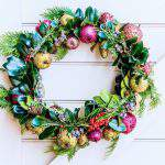 holiday wreath.