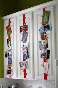 Clutter Free Holiday Card Display Ideas @ RefinedRoomsLLC.com