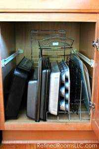 Dividing the space in the kitchen cabinet @ refinedroomsllc.com