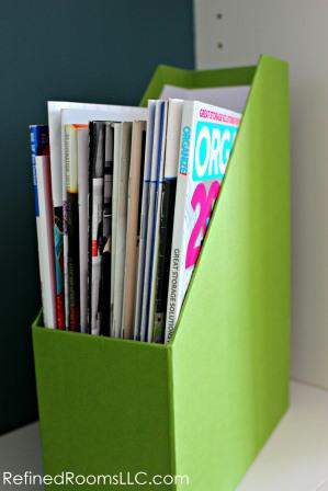 Magazine Files make a Professional Organizer's Top 10 List or Products @ refinedroomsllc.com