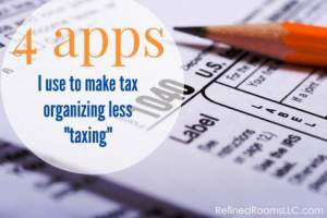 Tax organizing apps