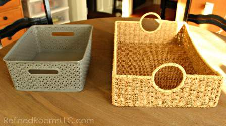 organizing mail - Containers that could serve as a paper INBOX in your home @Refinedroomsllc.com