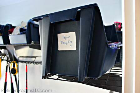 organizing mail - Place a recycling bin next to your entryway as part of your mail processing system @ RefinedRoomsLLC.com