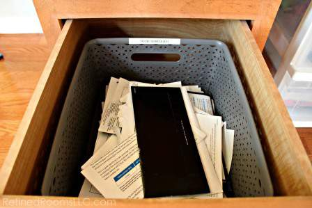 "organizing mail - Designate a ""To Be Shredded Bin"" in your mail processing system @ Refinedroomsllc.com"