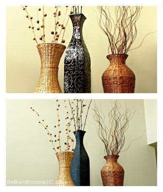 Spraypainted Vase Collage