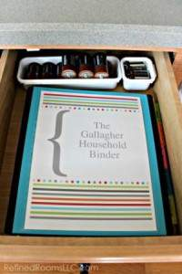 Create a household reference binder to store reference papers that you need to refer to quickly and often @ Refinedroomsllc.com