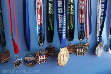 Organize and Store Sports Medals @RefinedRoomsLLC.com