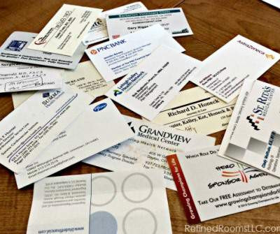 Organizing Business Cards {Paper Declutter Challenge Week 10}