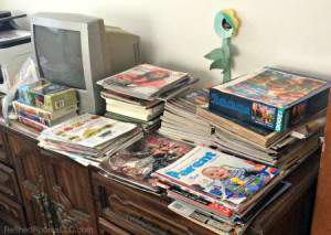 Decluttering magazines and catalogs @ RefinedRoomsLLC.com