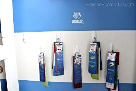 Organizing Swim Award Ribbons @ RefinedRoomsLLC.com
