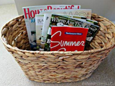 ORGANIZING CATALOGS & MAGAZINES {PAPER DECLUTTER CHALLENGE WEEK 8}
