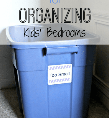 ORGANIZING KIDS' BEDROOMS WITH 2 SIMPLE TOOLS