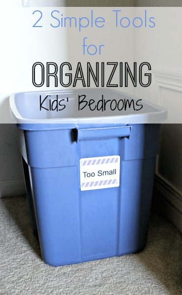 Using a Too Small and a Too Large Bin to Organizing Kids' clothing @ Refinedroomsllc.com