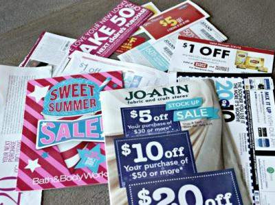 Organizing coupons in the Summer Shred Paper Declutter Challenge @ RefinedRoomsLLC.com