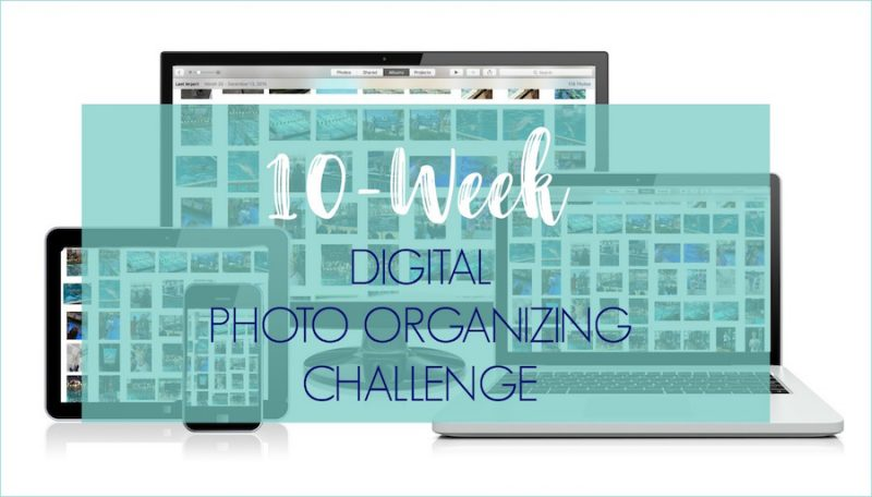 Ready to tame the digital photo chaos? Take the 10-week Digital Photo Organizing Challenge!