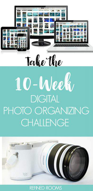 Ready to tame the digital photo chaos? Take the 10-week Digital Photo Organizing Challenge at Refined Rooms | #photoorganizing #organizingchallenge
