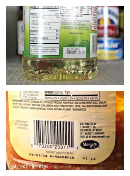 Use Expiration Dates as a Speed Decluttering tool in the Kitchen & Bath @ refinedroomsllc.com