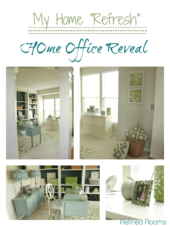 Home Office makeover Reveal @ Refinedroomsllc.com